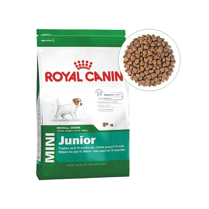 8 kilo royal canin mini junior complete food for puppies up to 10 month old paw prints. Black Bedroom Furniture Sets. Home Design Ideas