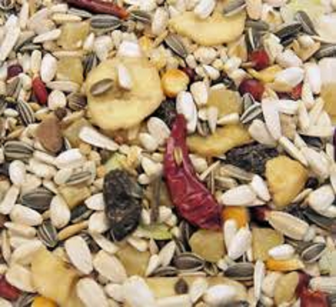 15 K TROPICAL PARROT BIRD FRUIT SEED AND NUTS MIX - Paw Prints