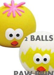 2 LATEX EASTER BALLS